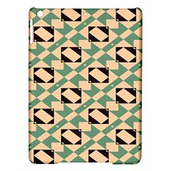 Brown Green Rectangles Pattern Apple Ipad Air Hardshell Case by LalyLauraFLM