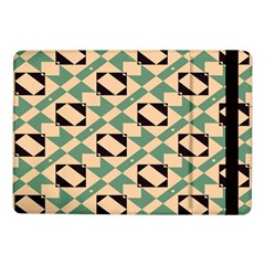 Brown Green Rectangles Pattern 	samsung Galaxy Tab Pro 10 1  Flip Case by LalyLauraFLM