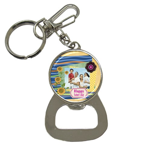 Fathers Day By Dad   Bottle Opener Key Chain   Joy2j2xm3cz8   Www Artscow Com Front