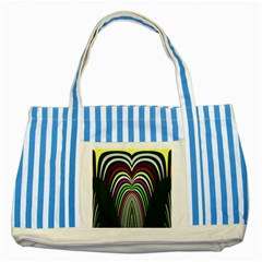 Symmetric Waves Striped Blue Tote Bag by LalyLauraFLM