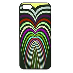 Symmetric Waves Apple Iphone 5 Seamless Case (black) by LalyLauraFLM