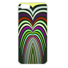 Symmetric Waves Apple Iphone 5 Seamless Case (white) by LalyLauraFLM