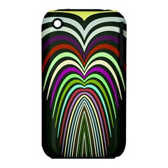 Symmetric waves Apple iPhone 3G/3GS Hardshell Case (PC+Silicone) by LalyLauraFLM