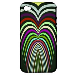 Symmetric Waves Apple Iphone 4/4s Hardshell Case (pc+silicone) by LalyLauraFLM