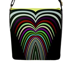 Symmetric Waves Flap Closure Messenger Bag (large) by LalyLauraFLM