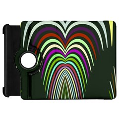 Symmetric Waves 	kindle Fire Hd Flip 360 Case by LalyLauraFLM