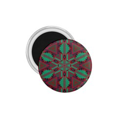 Green Tribal Star 1 75  Magnet by LalyLauraFLM