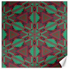 Green Tribal Star Canvas 16  X 16  by LalyLauraFLM