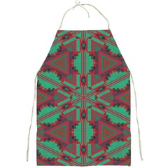 Green Tribal Star Full Print Apron by LalyLauraFLM