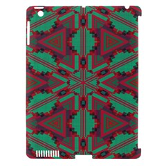 Green Tribal Star Apple Ipad 3/4 Hardshell Case (compatible With Smart Cover) by LalyLauraFLM