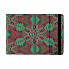Green Tribal Star Apple Ipad Mini Flip Case by LalyLauraFLM