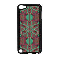 Green Tribal Star Apple Ipod Touch 5 Case (black) by LalyLauraFLM