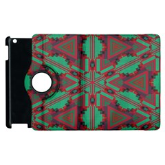 Green Tribal Star Apple Ipad 3/4 Flip 360 Case by LalyLauraFLM