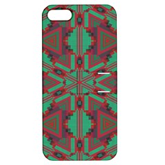 Green Tribal Star Apple Iphone 5 Hardshell Case With Stand by LalyLauraFLM