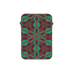 Green Tribal Star Apple Ipad Mini Protective Soft Case by LalyLauraFLM