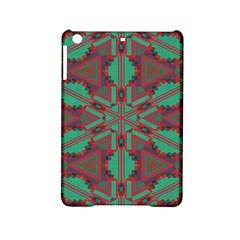 Green Tribal Star Apple Ipad Mini 2 Hardshell Case by LalyLauraFLM