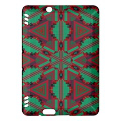 Green Tribal Star 	kindle Fire Hdx Hardshell Case by LalyLauraFLM