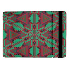 Green Tribal Star 	samsung Galaxy Tab Pro 12 2  Flip Case by LalyLauraFLM