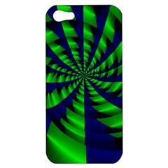 Green Blue Spiral Apple Iphone 5 Hardshell Case by LalyLauraFLM