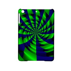 Green blue spiral Apple iPad Mini 2 Hardshell Case by LalyLauraFLM
