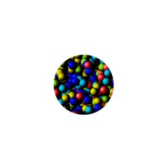 Colorful balls 1  Mini Button by LalyLauraFLM