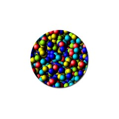 Colorful Balls Golf Ball Marker (10 Pack) by LalyLauraFLM