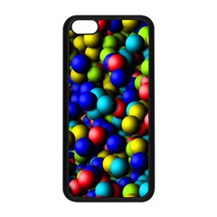 Colorful Balls Apple Iphone 5c Seamless Case (black) by LalyLauraFLM