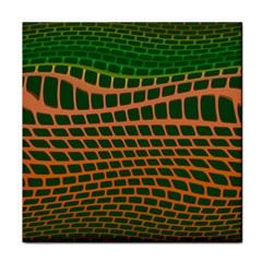 Distorted Rectangles Tile Coaster by LalyLauraFLM