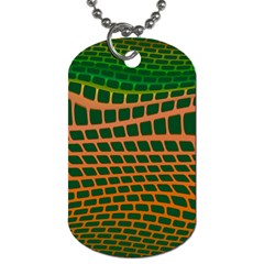 Distorted Rectangles Dog Tag (two Sides) by LalyLauraFLM