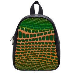 Distorted Rectangles School Bag (small) by LalyLauraFLM