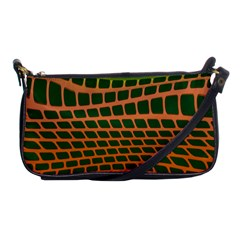Distorted Rectangles Shoulder Clutch Bag by LalyLauraFLM