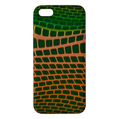 Distorted Rectangles Apple Iphone 5 Premium Hardshell Case by LalyLauraFLM
