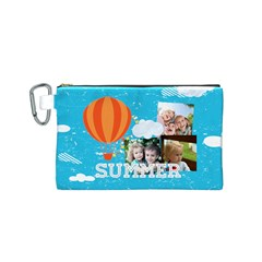 Summer By Summer Time    Canvas Cosmetic Bag (small)   Wwnea3qmk3yj   Www Artscow Com Front