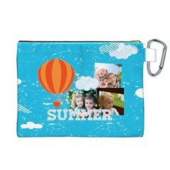 Summer By Summer Time    Canvas Cosmetic Bag (xl)   Zb3wav1rvibx   Www Artscow Com Back