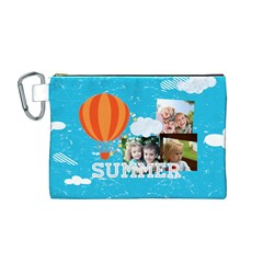 Summer By Summer Time    Canvas Cosmetic Bag (medium)   Xb9n7e1gvr97   Www Artscow Com Front