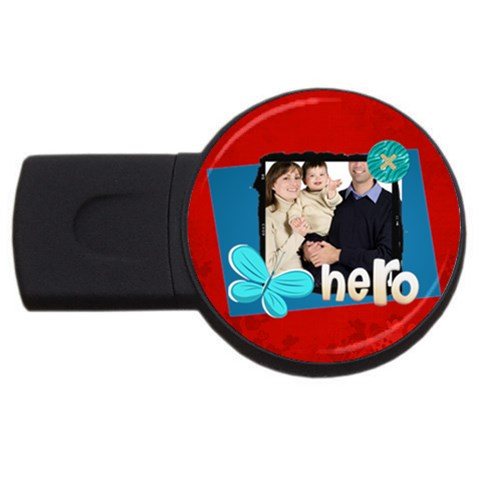 Dad By Dad   Usb Flash Drive Round (2 Gb)   Vews3j9nz25n   Www Artscow Com Front