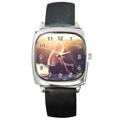 Boho Blonde Square Leather Watch by boho