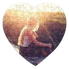 Boho Blonde Jigsaw Puzzle (heart) by boho