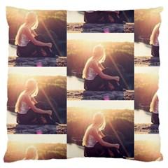 Boho Blonde Large Cushion Case (single Sided)  by boho
