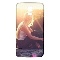 Boho Blonde Samsung Galaxy S5 Back Case (White) by boho