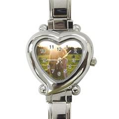 Sophia Heart Italian Charm Watch  by boho