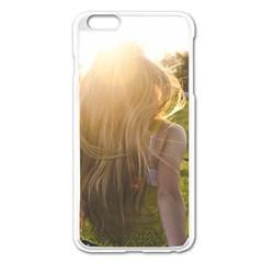 Sophia Apple Iphone 6 Plus Enamel White Case by boho