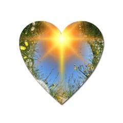Dandelions Magnet (heart) by boho
