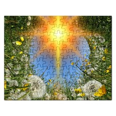 Dandelions Jigsaw Puzzle (rectangle) by boho