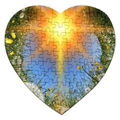 Dandelions Jigsaw Puzzle (heart) by boho