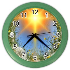Dandelions Wall Clock (color) by boho