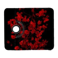 Dark Red Flower Samsung Galaxy S  III Flip 360 Case by dflcprints