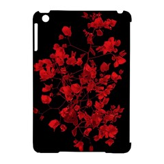 Dark Red Flower Apple Ipad Mini Hardshell Case (compatible With Smart Cover) by dflcprints