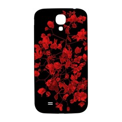 Dark Red Flower Samsung Galaxy S4 I9500/i9505  Hardshell Back Case by dflcprints