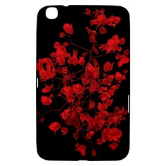 Dark Red Flower Samsung Galaxy Tab 3 (8 ) T3100 Hardshell Case  by dflcprints
